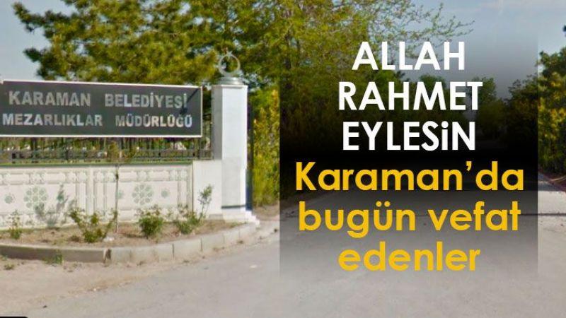 11 Eylül Karaman'da vefat edenler