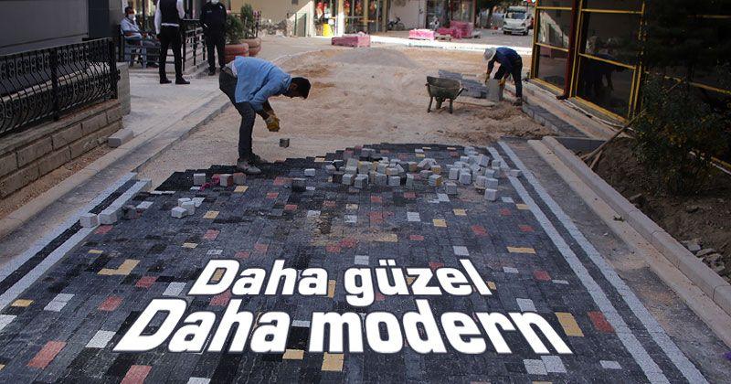 Karaman Belediyesi'nin yol ve kaldırım çalışmaları