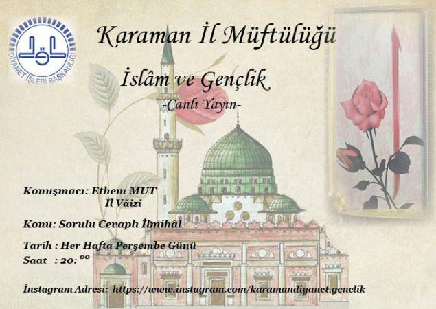 İslam ve Gençlik Dersleri Başlıyor