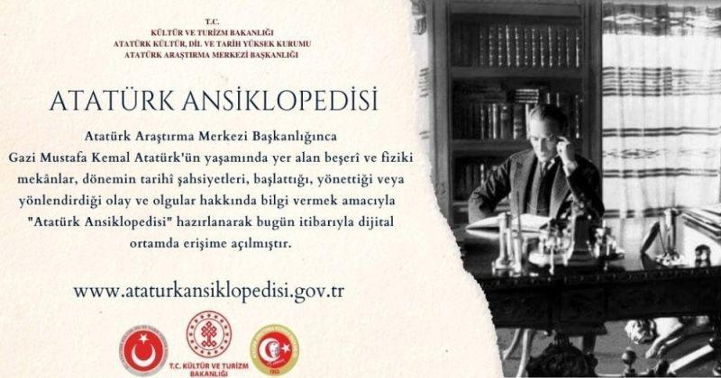 Atatürk Encyclopedia was made available digitally