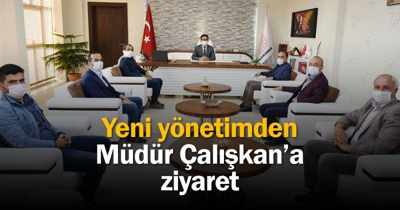 A Visit From The New Management Of Karaman Türk Eğitim Sen To Çalışkan