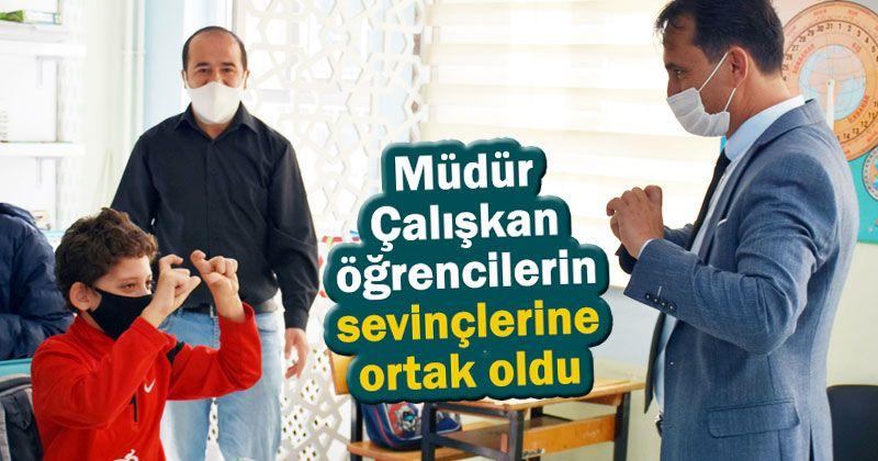 Principal Çalışkan: We are at a pleasant point in schools