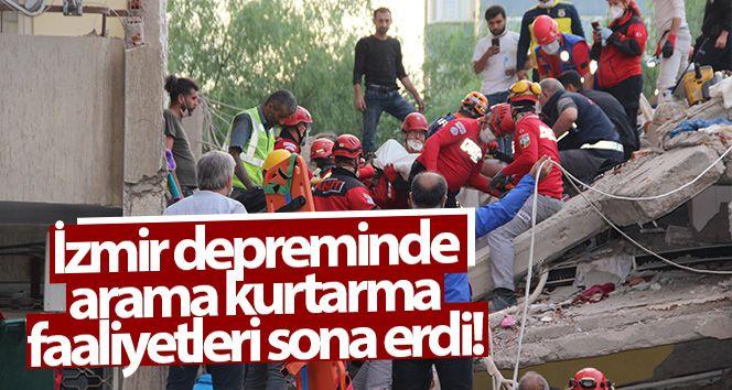 İzmir depreminde arama kurtarma faaliyetleri sona erdi