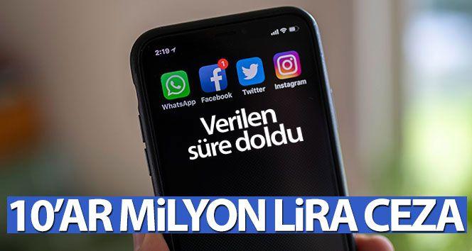 Yükümlülüklere uymayan sosyal ağ sağlayıcılarına 10'ar milyon lira ceza