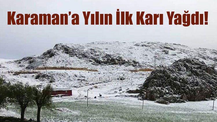 The first snowfall of the season in Karaman