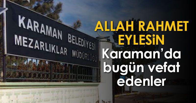Those who passed away on November 5 in Karaman