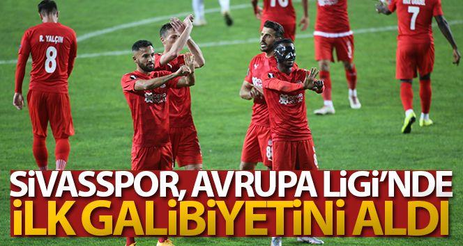 Sivasspor, Avrupa'da ilk galibiyetini aldı