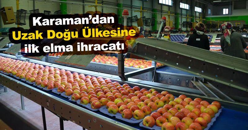 Karaman'dan Tayland'a İlk Elma İhracatı Gerçekleşti