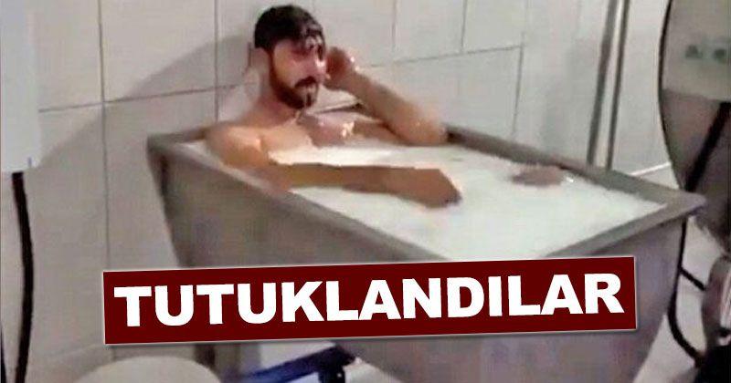 Those enjoying a bath in the milk cauldron were arrested