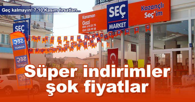 Shock Prices at SEÇ Market Gazi Shop Branch