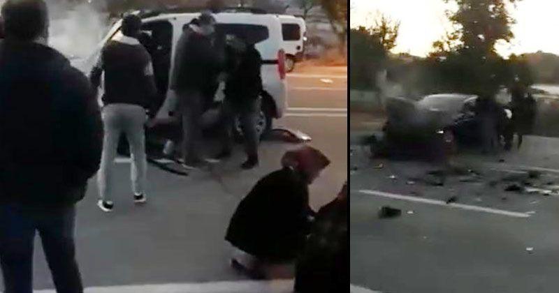 Hafif ticari araçla ile otomobil çarpıştı: 1 ölü, 3 yaralı