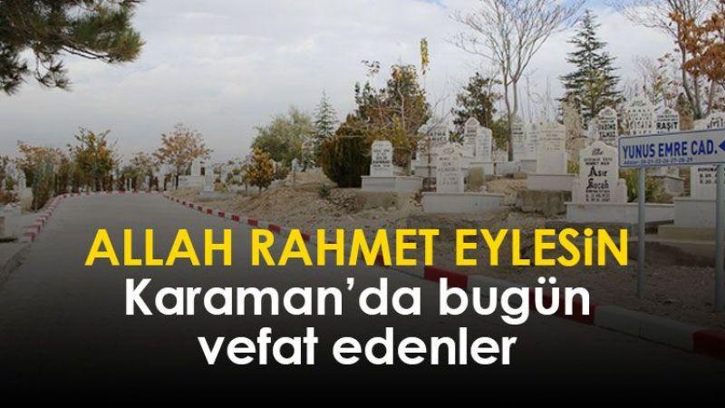 10 Kasım Karaman'da vefat edenler