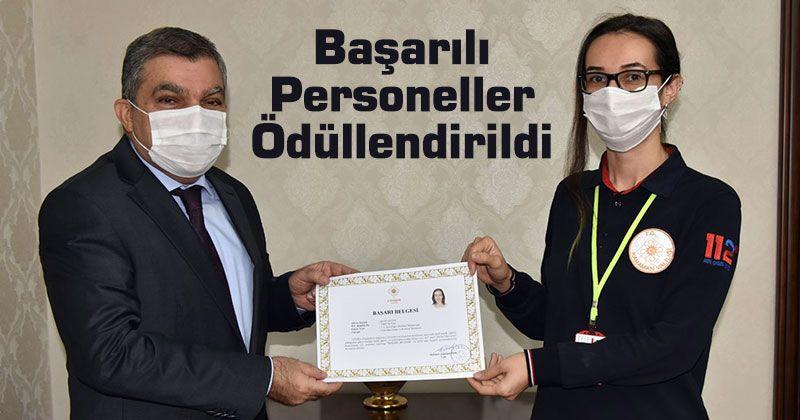 Karaman'da Başarılı Personeller Ödüllendirildi