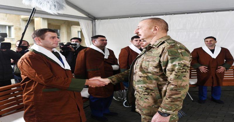 """Azerbaycan Cumhurbaşkanı  Aliyev, """"Hem savaş alanında, hem de müzakere masasında istediğimizi aldık"""""""
