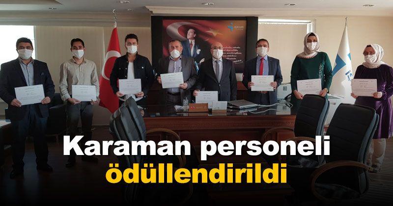 Karaman İŞKUR Personnel Awarded
