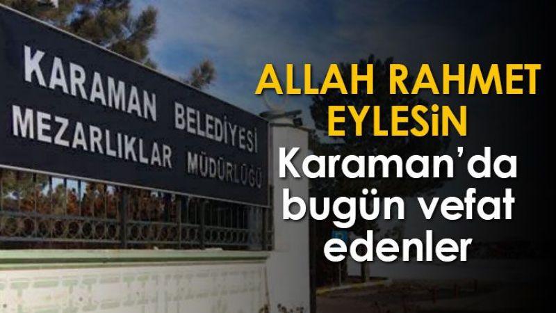 13 Kasım Karaman'da vefat edenler