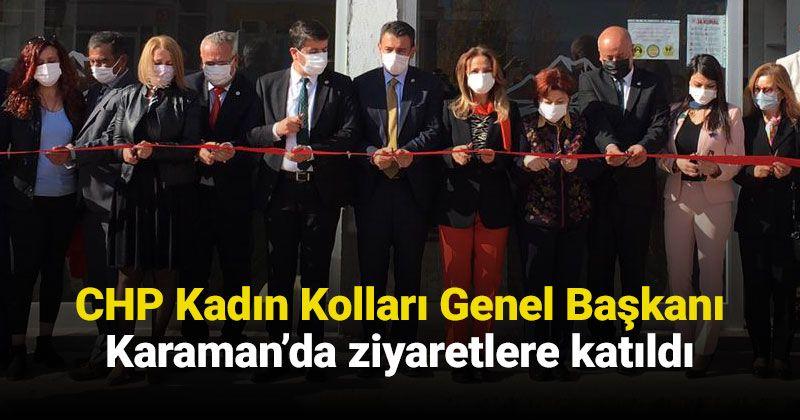 CHP Women's Branch Chairman Participated in Karaman Organization's Taşeli Visits