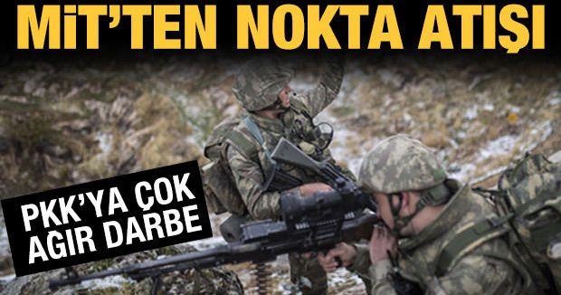 MİT'ten operasyon: PKK'ya ağır darbe!