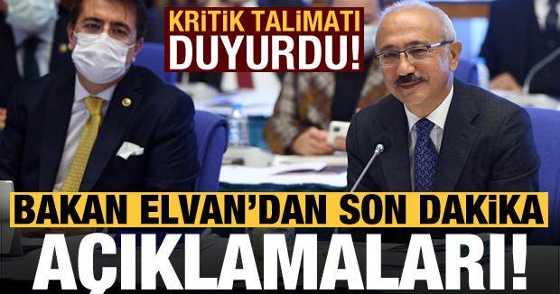 Hazine ve Maliye Bakanı Lütfi Elvan'dan son dakika açıklamaları!