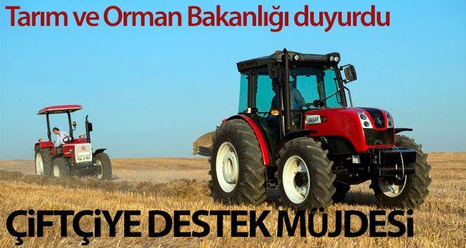 Tarım ve Orman Bakanlığı'ndan çiftçiye destek müjdesi