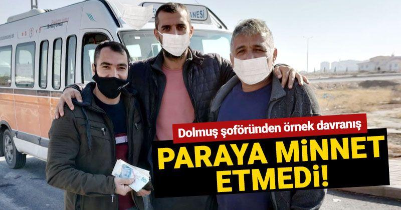 Exemplary behavior from the Karamanlı minibus driver