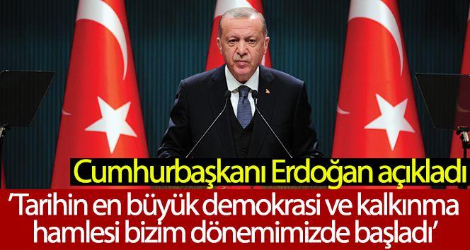 """Cumhurbaşkanı Erdoğan: """"Biz buralara vesayetin paraşütü ile gelmedik"""""""