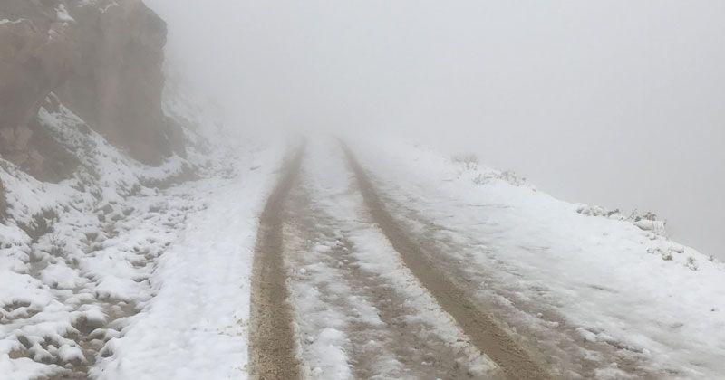 Kaş'ın yüksek kesimlerinde kar yağışı