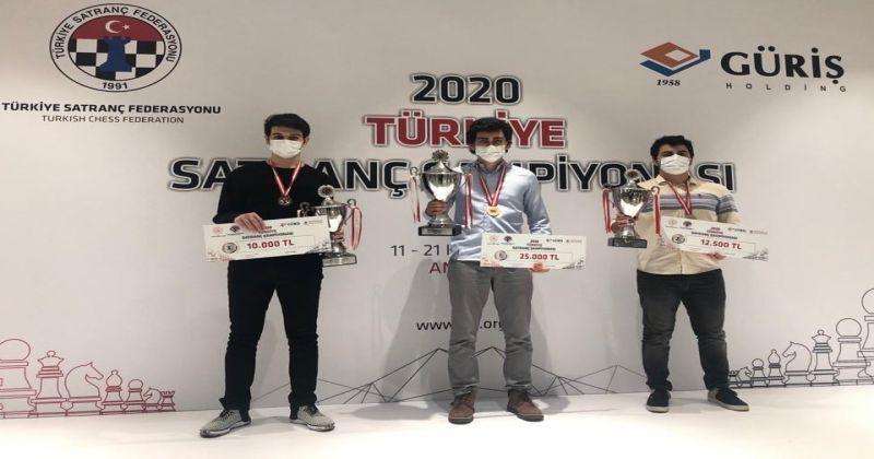 Vahap Şanal, 2020 Türkiye Satranç Şampiyonası'nda birinci oldu