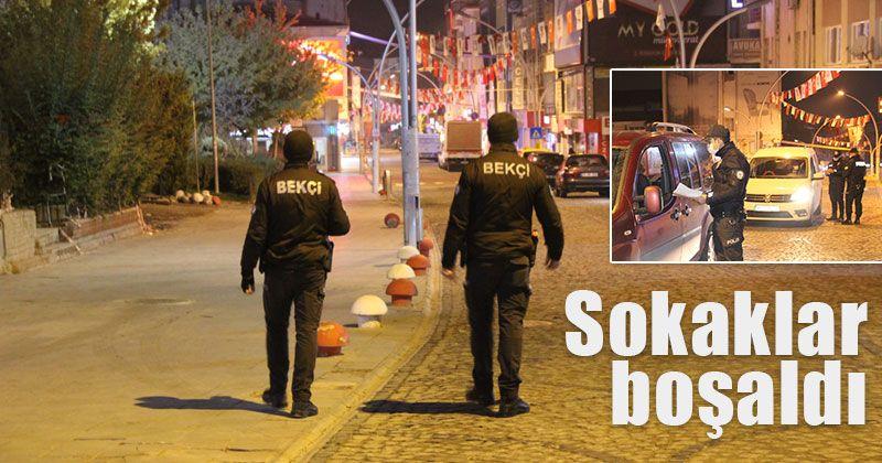 Karaman'da sokaklar boşaldı