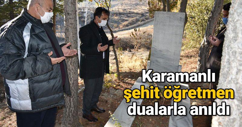 Karamanlı Martyr Teacher Hamza Çetin Was Commemorated With Prayers