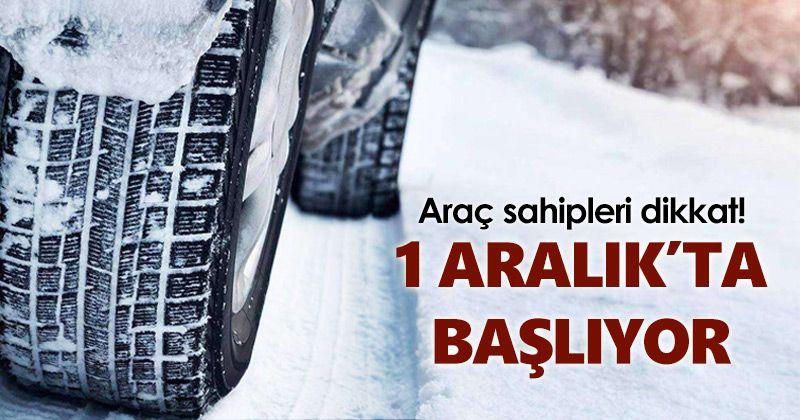 Mandatory winter tire application begins