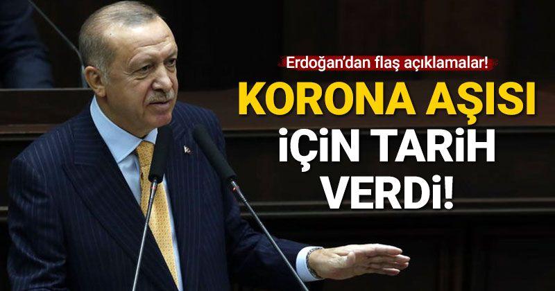 Cumhurbaşkanı Erdoğan korona aşısı için tarih verdi