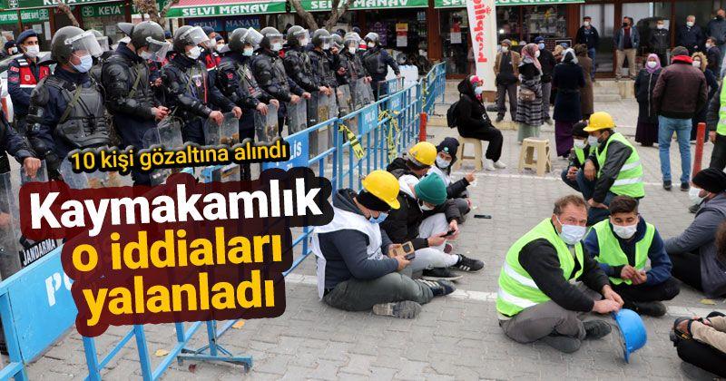 Ermenek Kaymakamlığından maden işçilerinin eylemine ilişkin açıklama