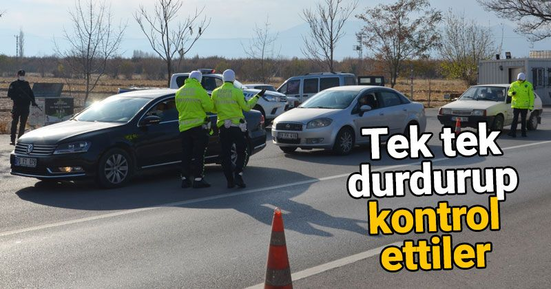 Kovid-19 inspections were carried out at the traffic application point in Karaman