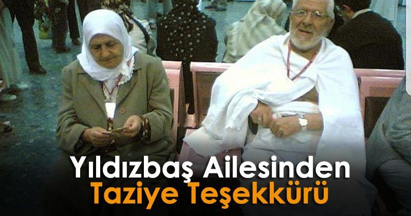 Thanks for Condolence in Yıldızbaş Family