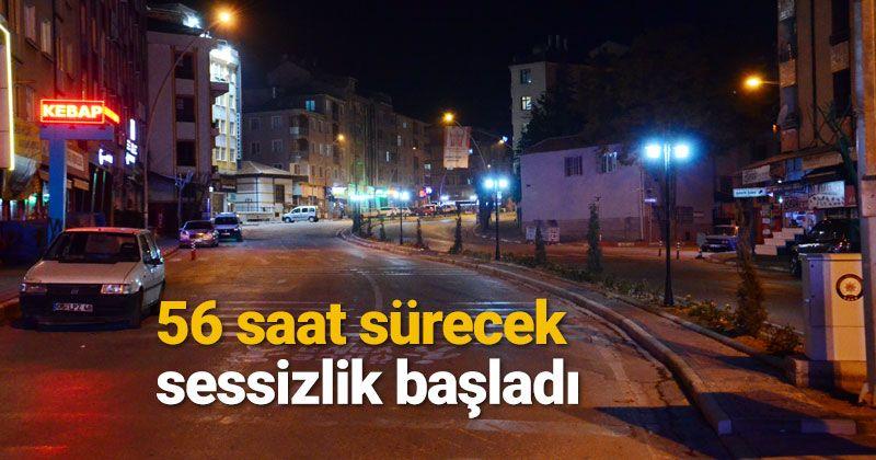 Karaman'da hafta sonu sokağa çıkma kısıtlaması başladı