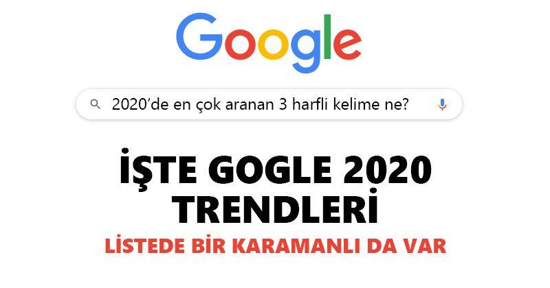 Türkiye'de 2020 yılında en çok aranan 3 harfli kelime ne?