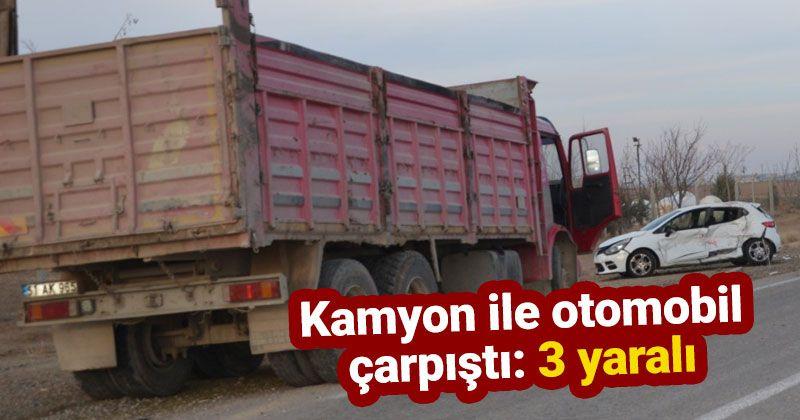 Ereğli'de kamyon ile otomobil çarpıştı: 3 yaralı