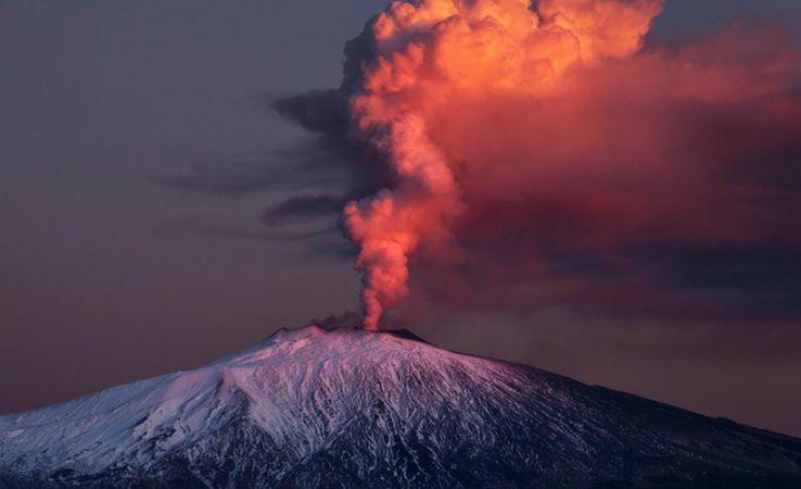Etna Volcano is back in action