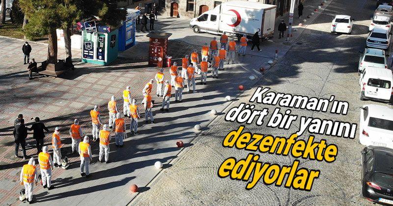 Municipality teams disinfect all over Karaman