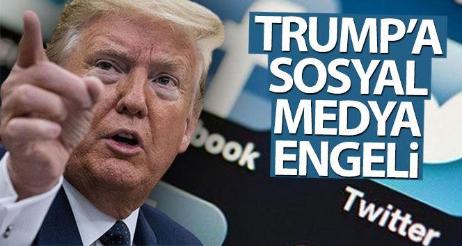 Twitter ve Facebook, Trump'ın hesaplarını askıya aldı