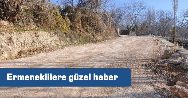 Vineyard roads open to service in Ermenek