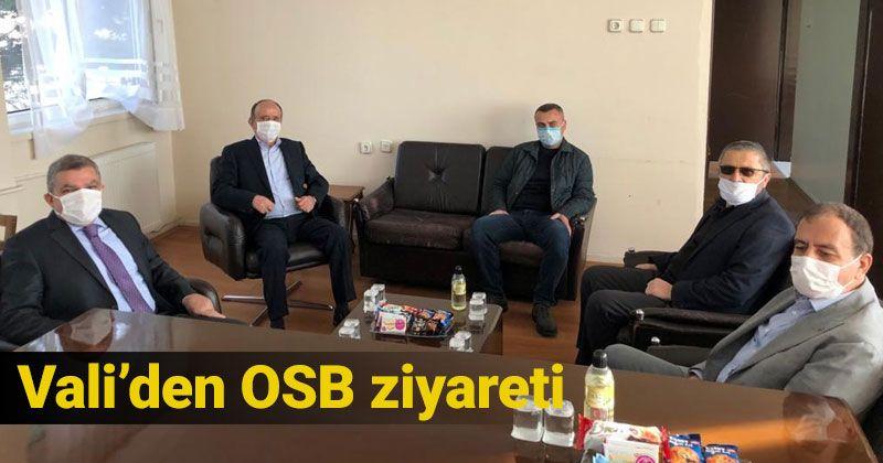 Vali Işık OSB'de Ziyaretlerde Bulundu