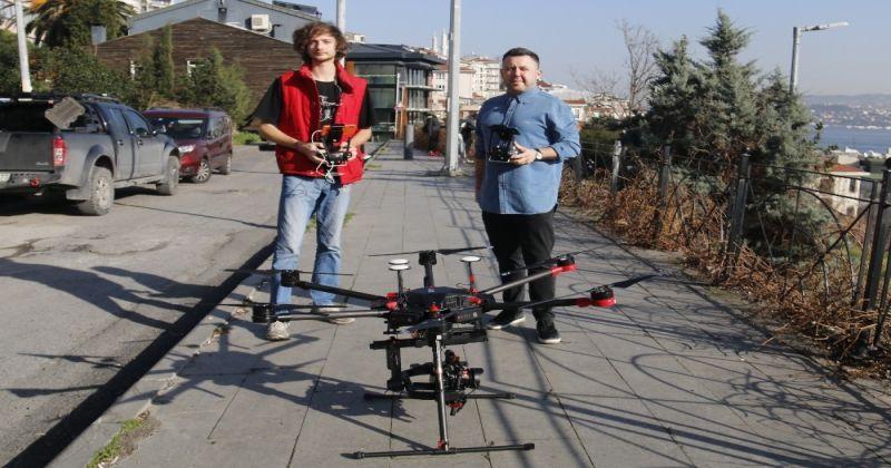 İstanbul'da pandemi drone'la anlatıldı