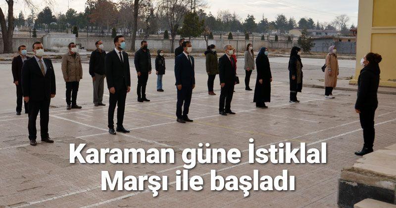 Bakan Selçuk'un çağrısıyla Karaman'da İstiklal Marşı okundu
