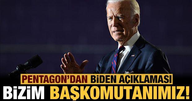 Pentagon'dan Biden genelgesi!