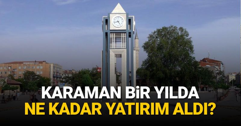 How much investment was made in Karaman in 2020?