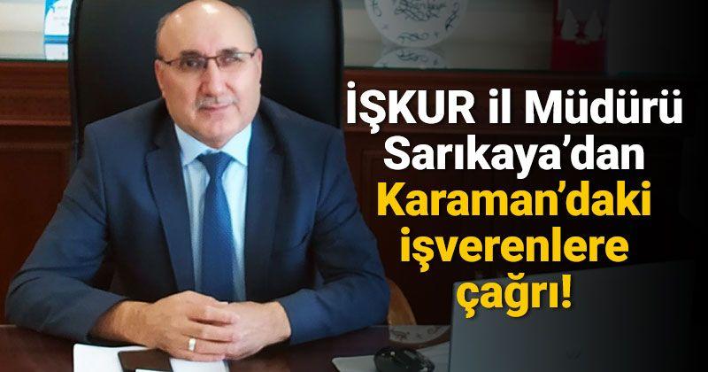 Call from Karaman İŞKUR to Employers
