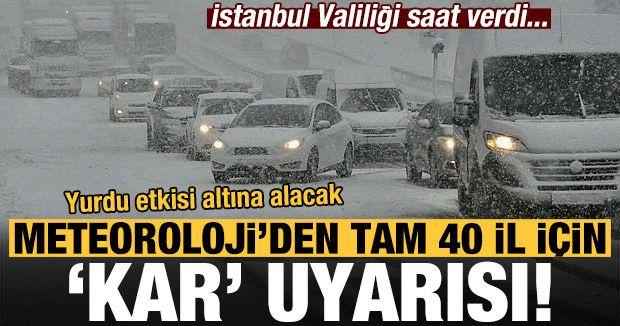 Meteoroloji'den tam 40 il için kar uyarısı! Tek tek açıklandı