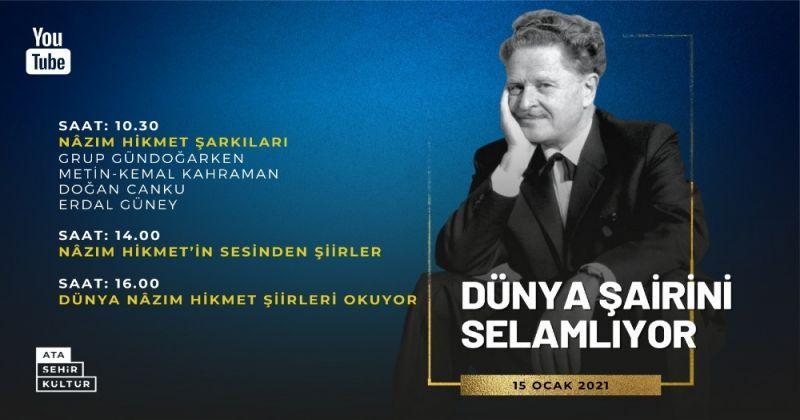 Dünyaca ünlü usta Şair Nâzım Hikmet 119. doğum gününde Ataşehir'de anılacak
